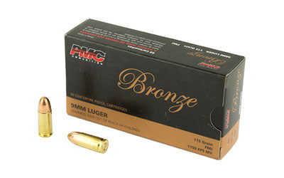 PMC Bronze 9mm 115gr FMJ 50bx