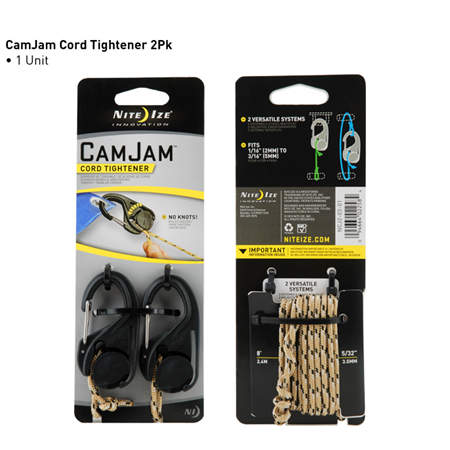 CamJam Cord Tightener 2 Pack with Rope