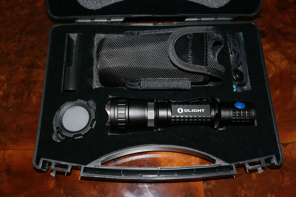 Contents of the Olight M20SX Javelot Case