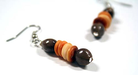Job's Tears with Spondylus Shell Bead Earrings