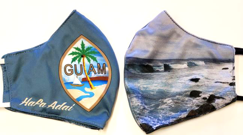 Guam Seal & Ocean Face Mask