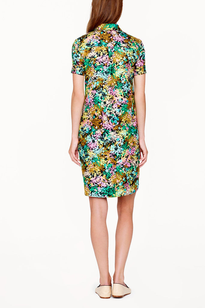 J. Crew SILK SHIRTDRESS IN TECHNICOLOR FLORAL