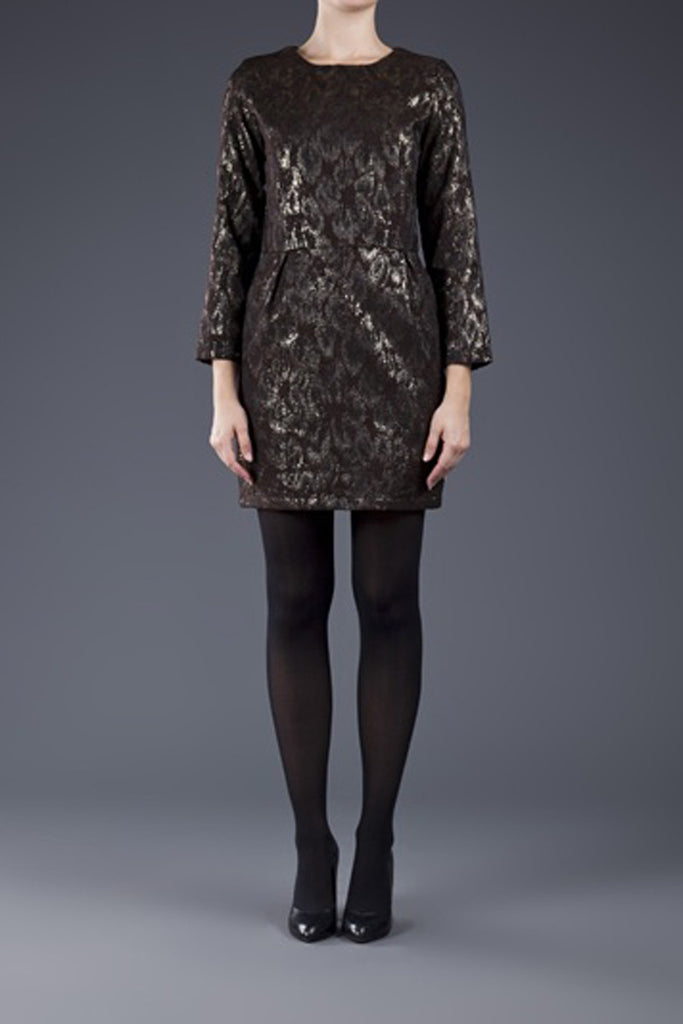 Steven Alan Metallic Long Sleeve Carolyn dress