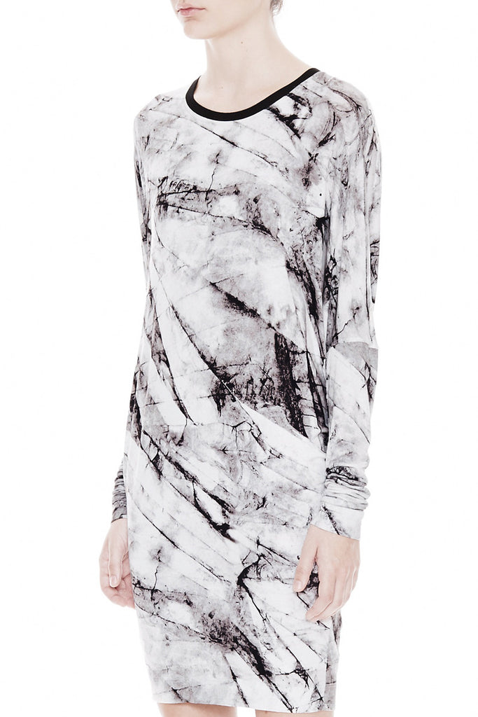 Helmut Lang Terrene Print Jersey Dress