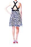 Cynthia Steffe Black and White Striped Dress