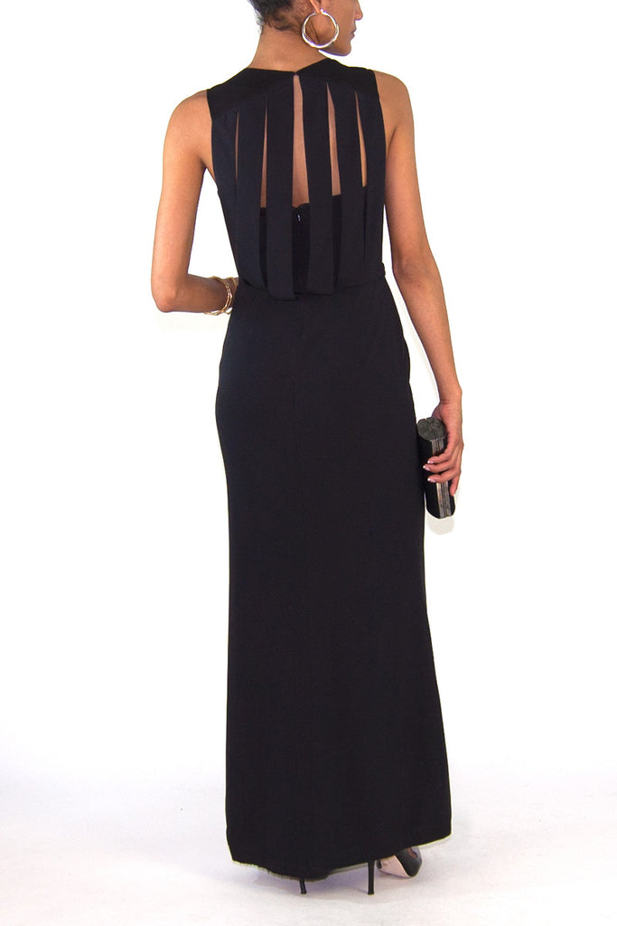 HAYWORTH CUT-OUT DETAIL DRESS BLACK