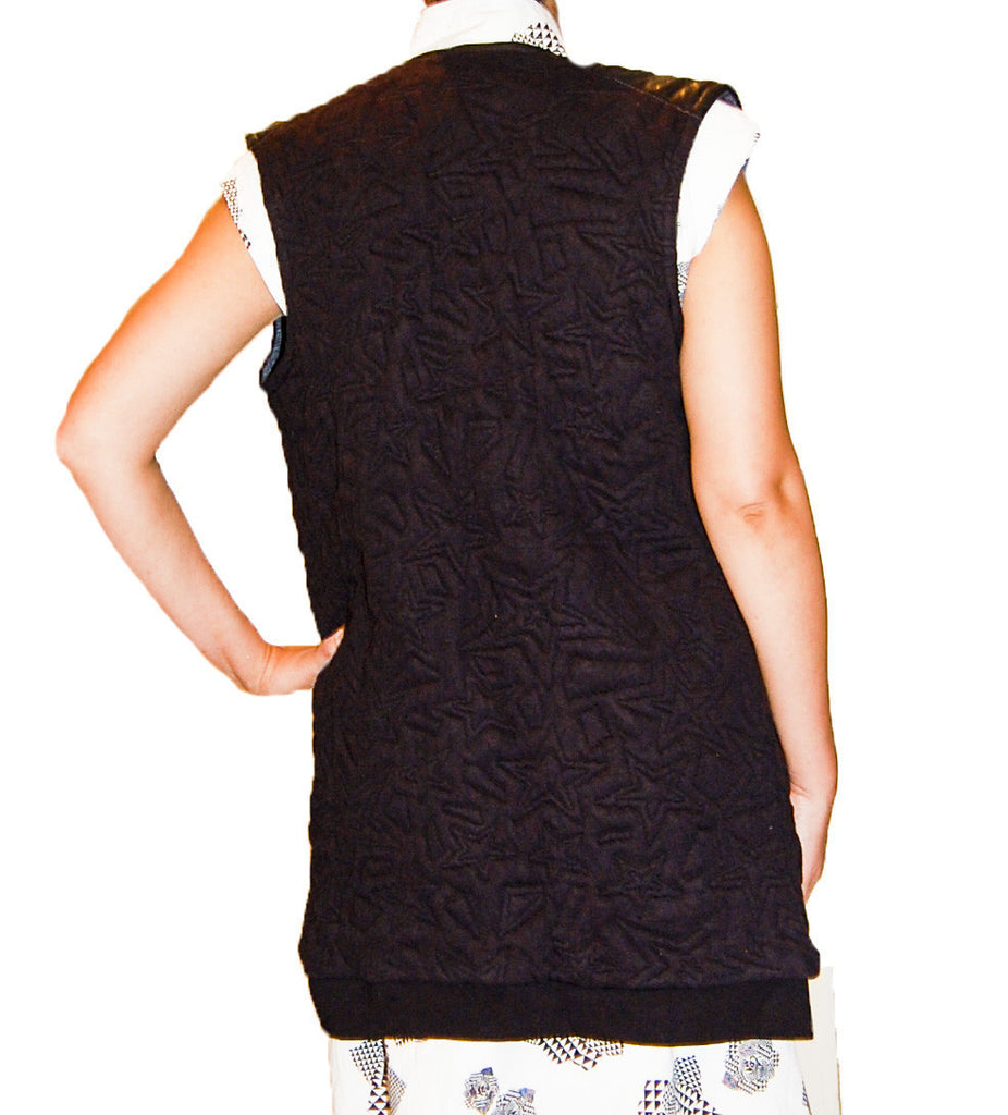 Maison Scotch Leather Shoulder Vest