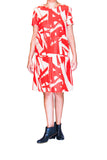 Hugo Boss Contemporary Bold Orange Print Dress