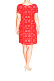 Rabbit Rabbit Rabbit Vintage Red and Orange Shift Dress