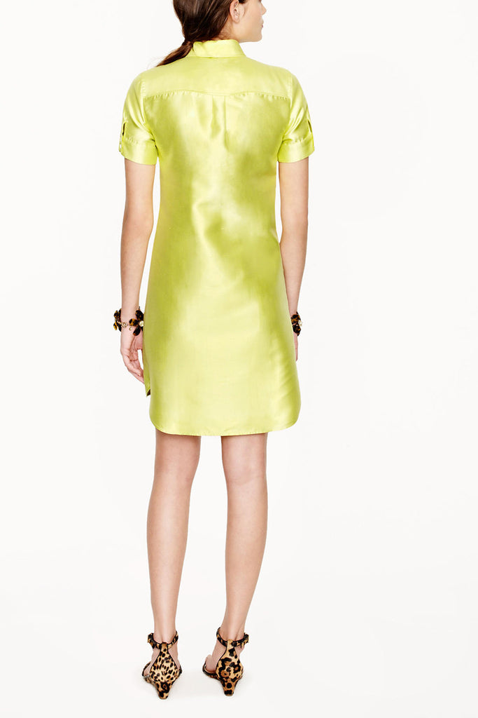 J. Crew Silk Yellow Shift Dress