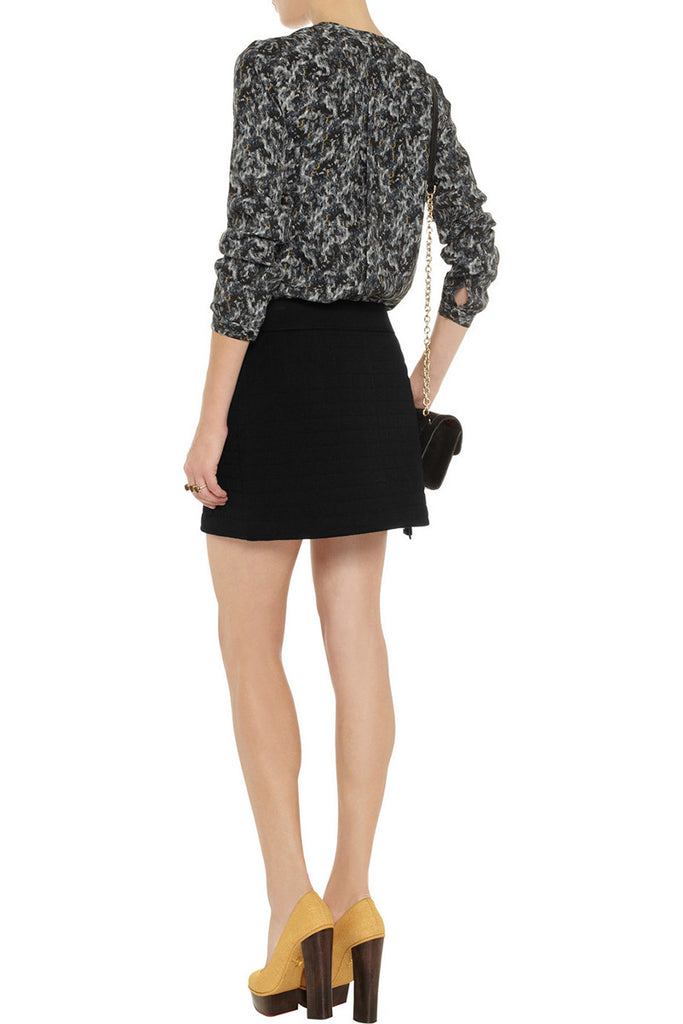 Theory Sudeena quilted wool skirt