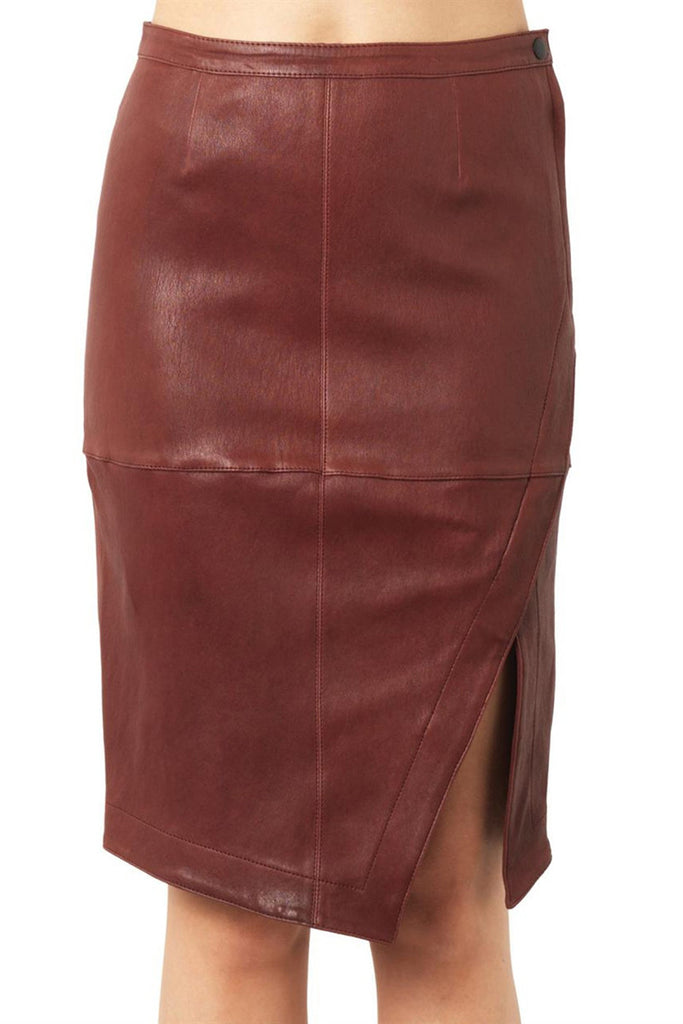ELIZABETH AND JAMES Mercy leather skirt