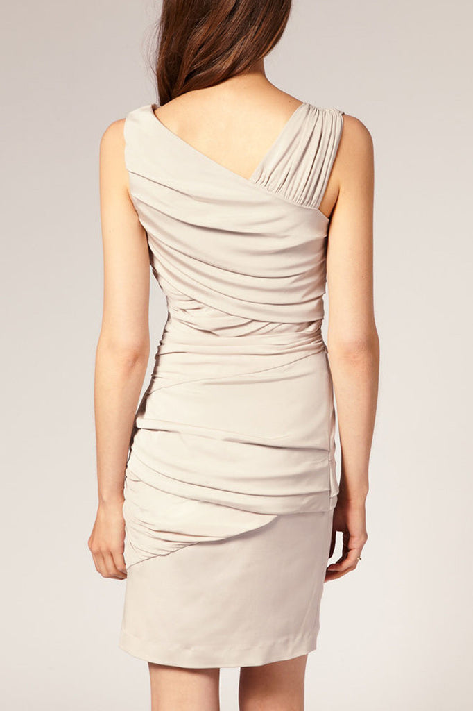 Reiss Sassy Dress in Nude Blush