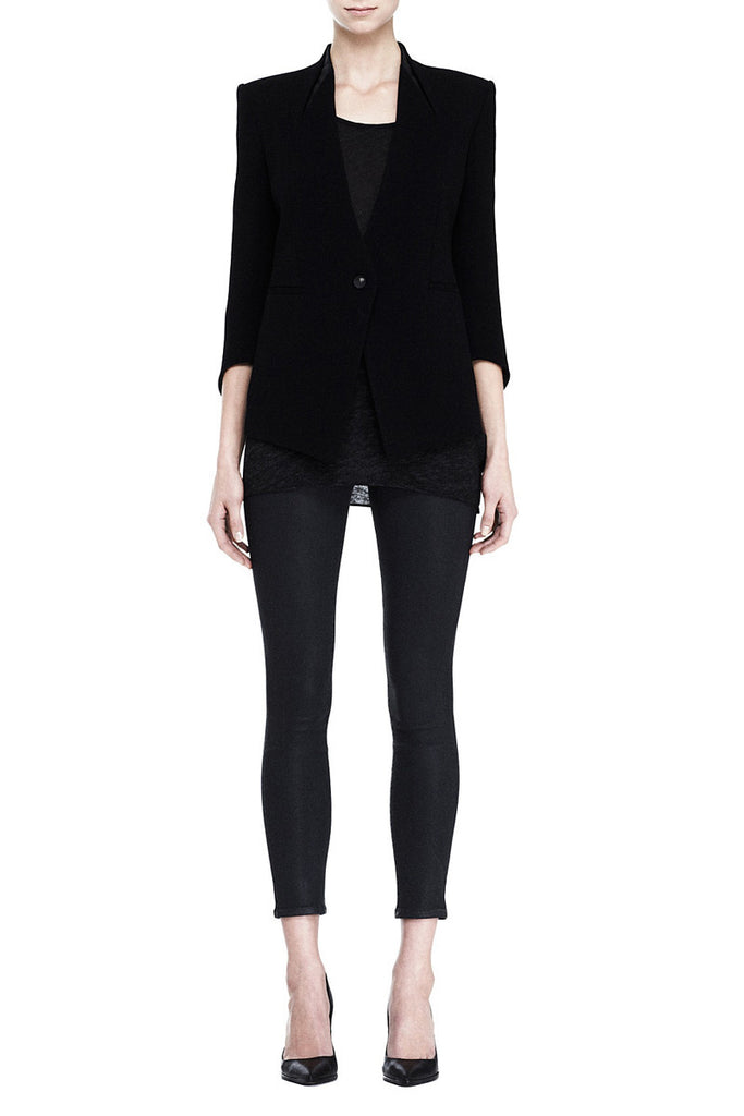 Helmut Lang Cusp Blazer Leather Detail on the Collar