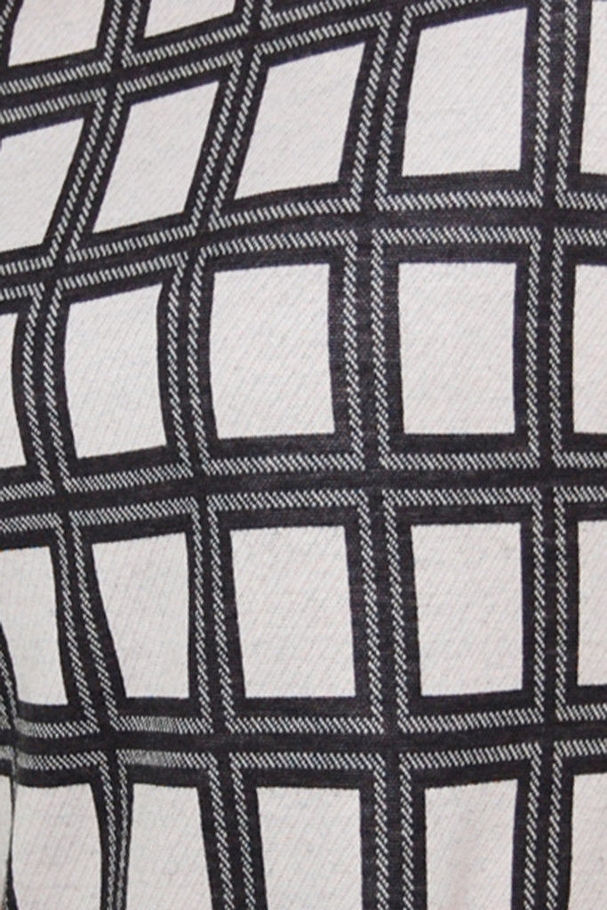 Tibi Black and white check shift dress