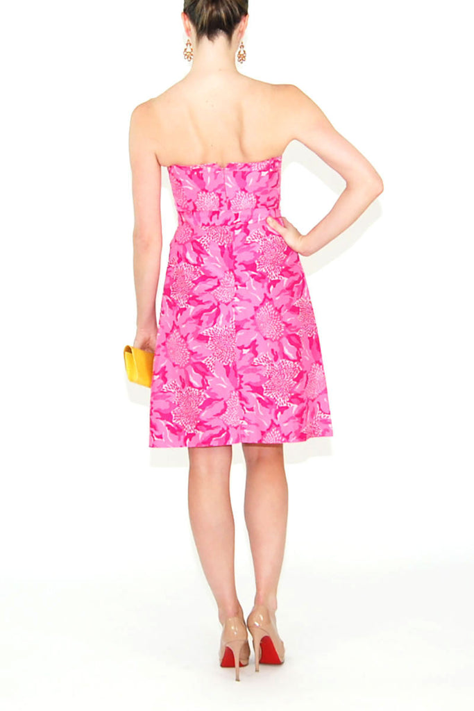 Lilly Pulitzer-Pink--Short Dress-Silk-x-small