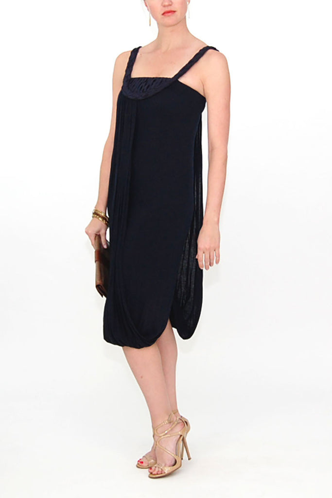 Rachel Roy Navy Draped Halter Neck Dress