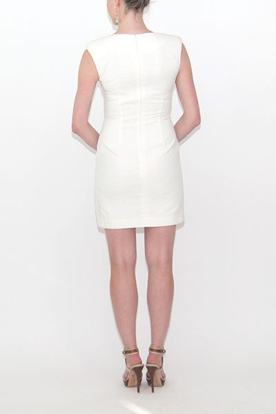 Roni Whiite U neckline Sophie Dress