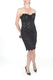 Custom Made Black Strapless Dress