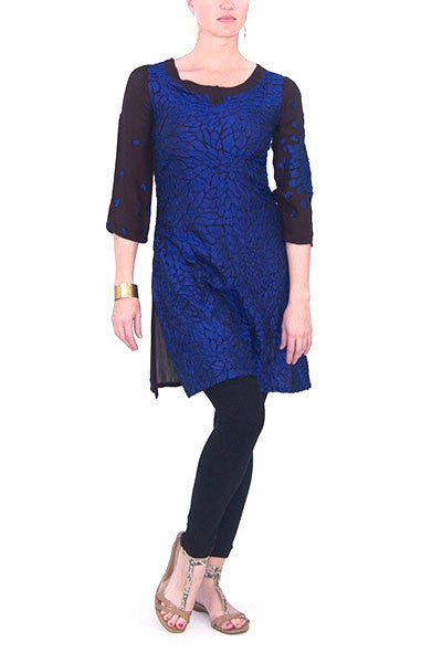 Rajesh Pratap Singh Black and Blue Tunic