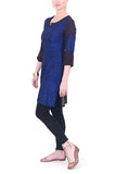 Rajesh Pratap Singh-Black-Blue-Top-Silk-medium