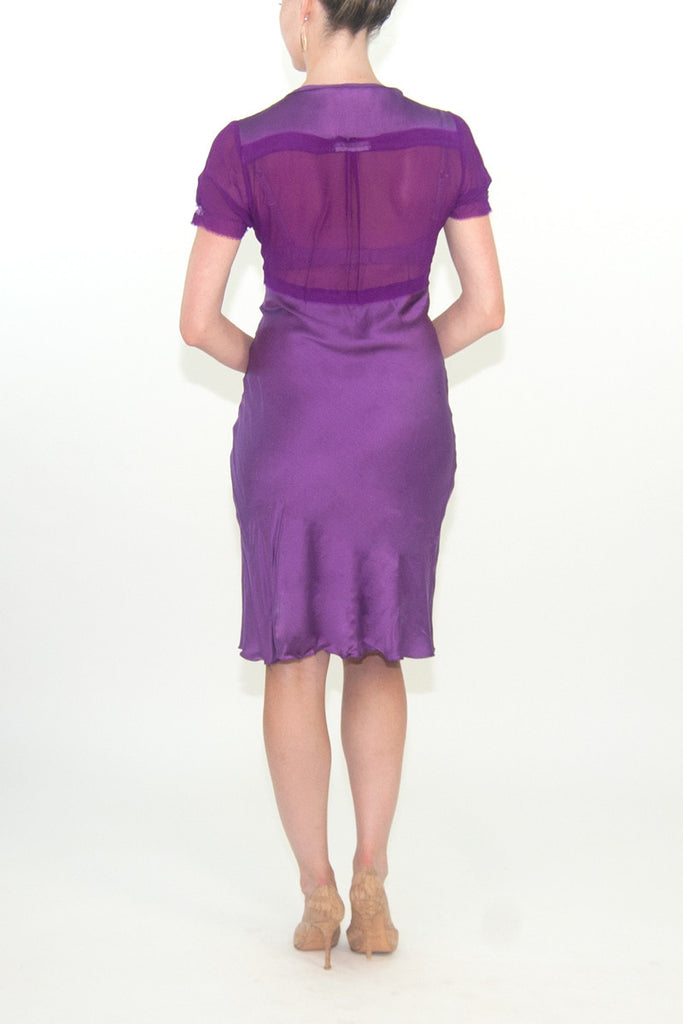 Philosophy di Alberta Ferretti Purple Silk Dress