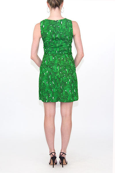 Prairie New York Green Charlotte Dress Tornado Print
