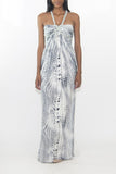 Thurley Rope Twist Printed Silk Maxi Dress