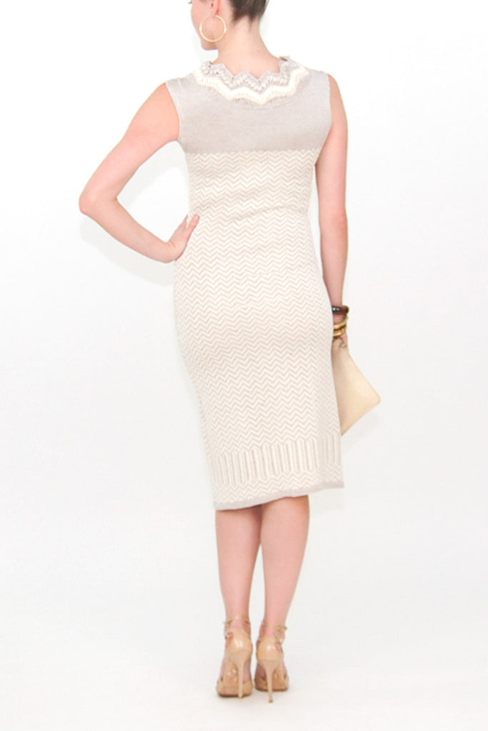 Bill Blass Knitted Silk Dress