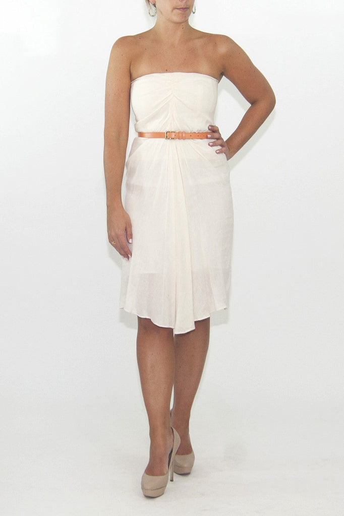 Phillip Lim strarless white linen dress
