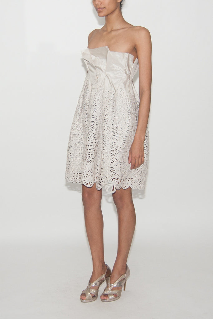 Lela Rose-Gray--Short Dress-Silk-small