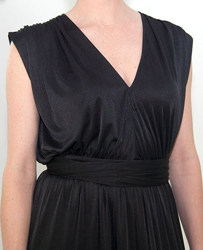 Halston Heritage Shirred Shoulder Long Dress For Women