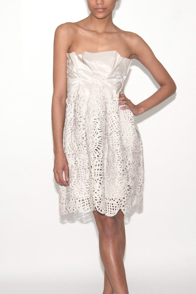 Lela Rose Silk Woven Lace One of a kind dress