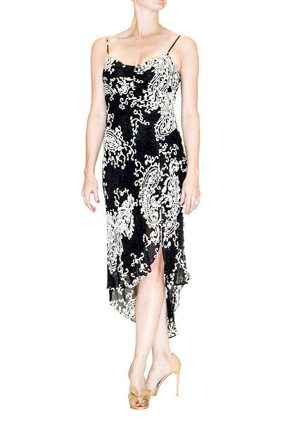 White House Black Market Long Floral Print Dress