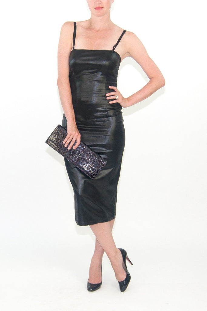 D&G Faux Leather Cocktail Dress