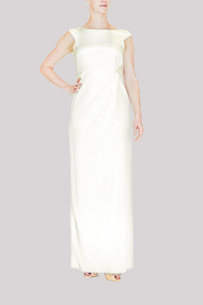 Guillermo Couture Custom-made Ivory Silk Gown