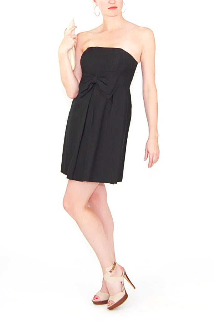 Lilly Pulitzer Black Strapless Dress with Bow