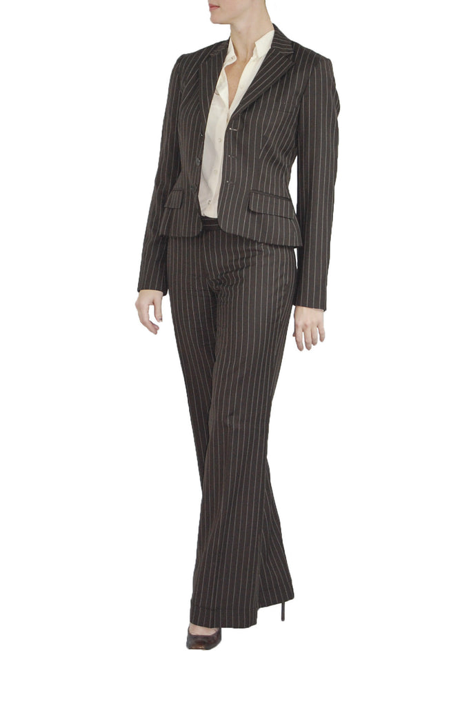Ralph Lauren Striped Brown Suit