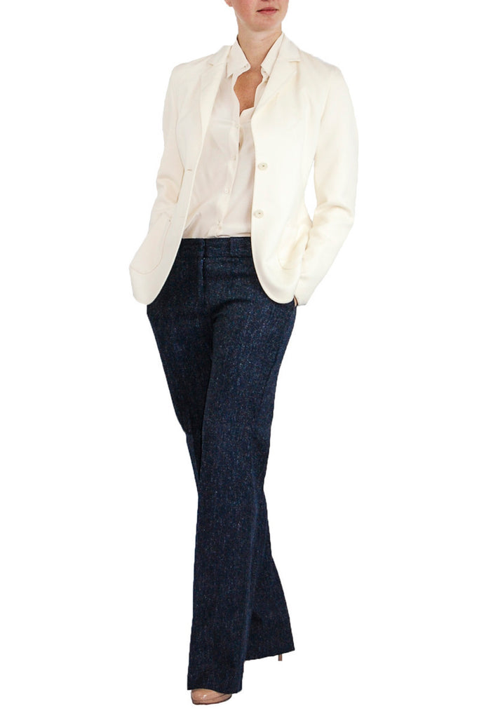 Escada off-white angora blazer