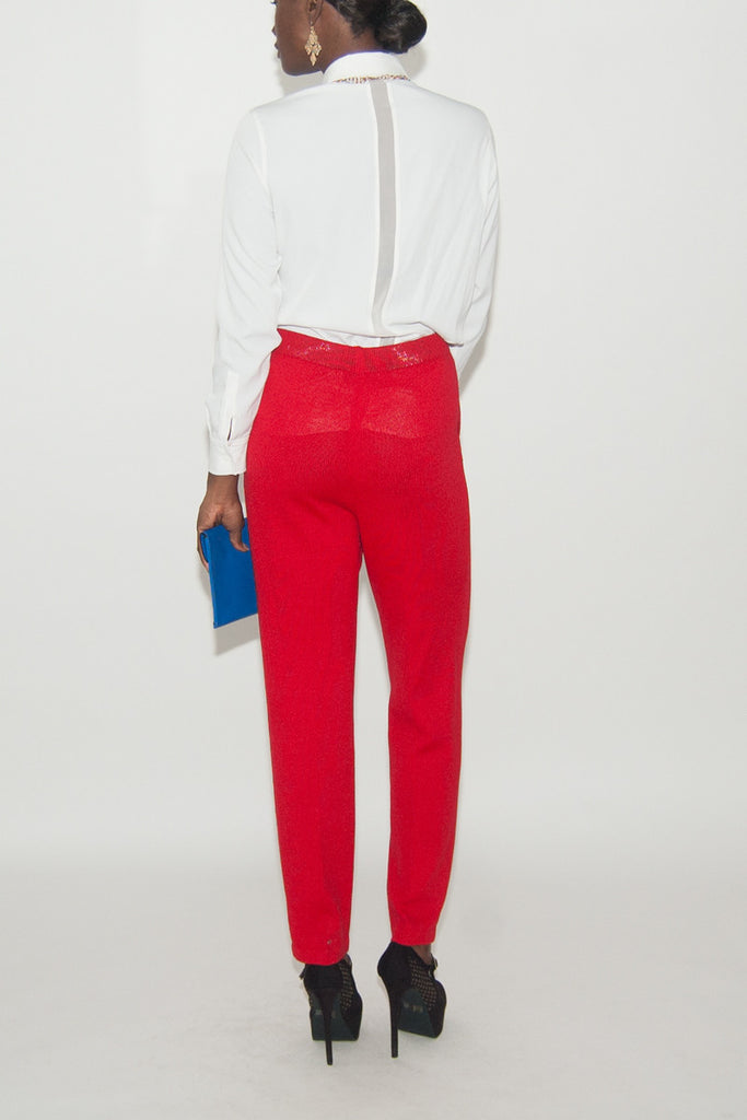 St. John Red Dress Pants