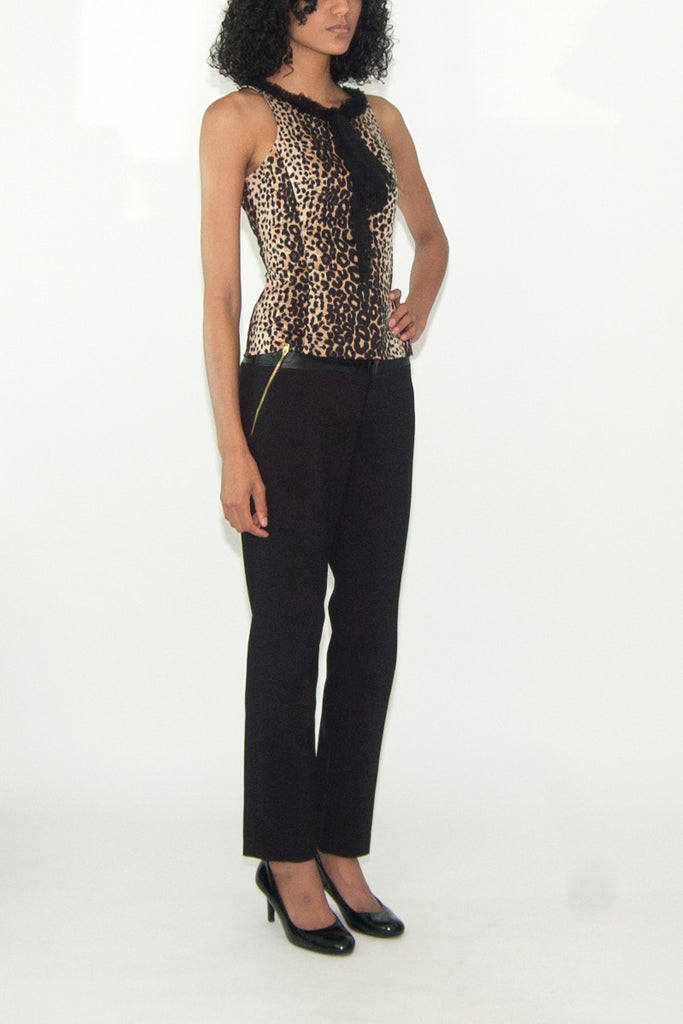 Samantha Treacy Leopard Print Top