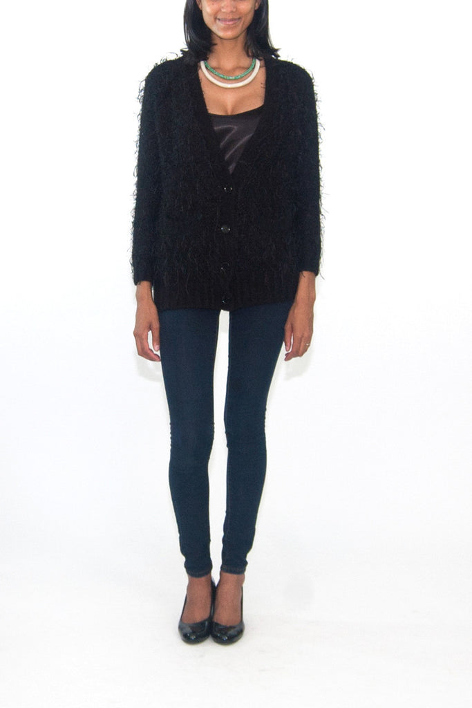 See by Chloe Black Oversized Long Cardigan