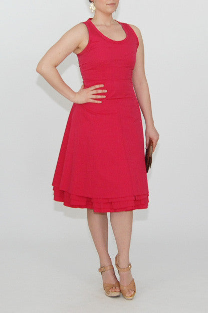 Marc Jacobs Layered Ruffle Hot Pink Dress
