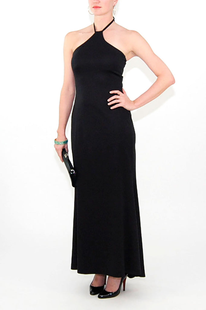 Josephine Sasso Black Halter-Neck Dress