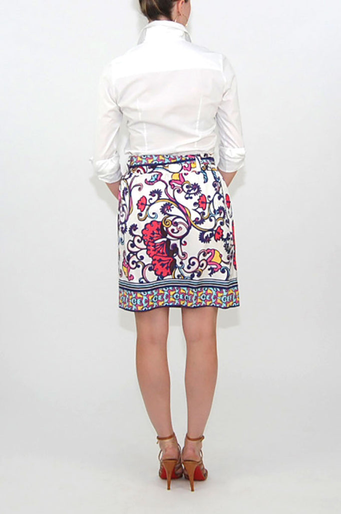 Lilly Pulitzer Silk Paisley Skirt