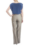 Lela Rose Brown Tuxedo High Waisted Pants