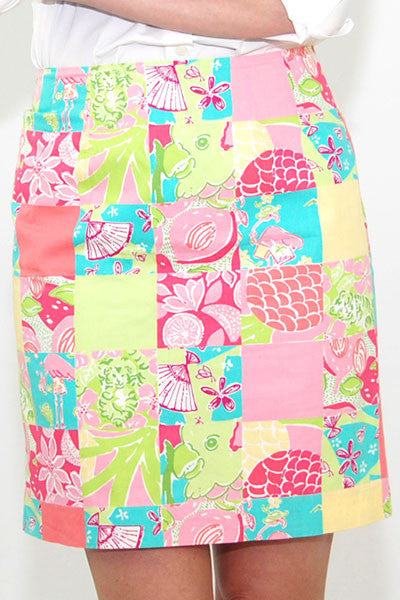 Lilly Pulitzer Cotton Classic Print Pink and Green Print