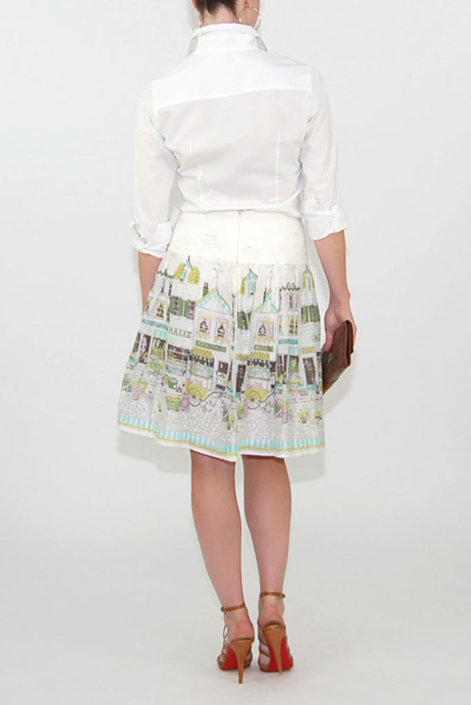 Kay Unger House print Skirt