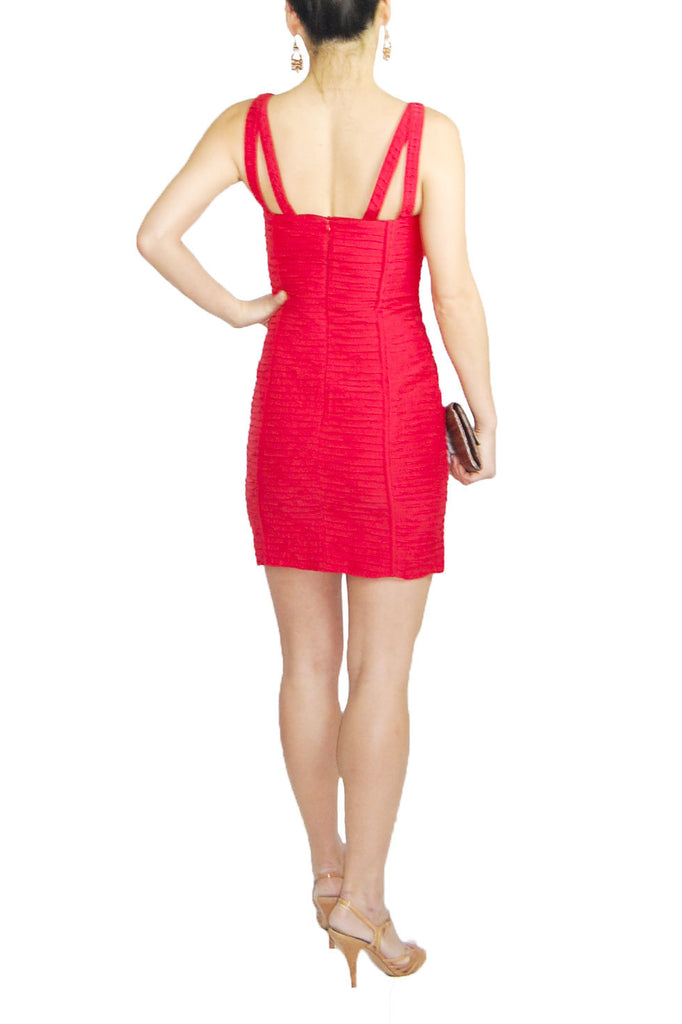 Rebecca Minkoff red bandage cocktail dress