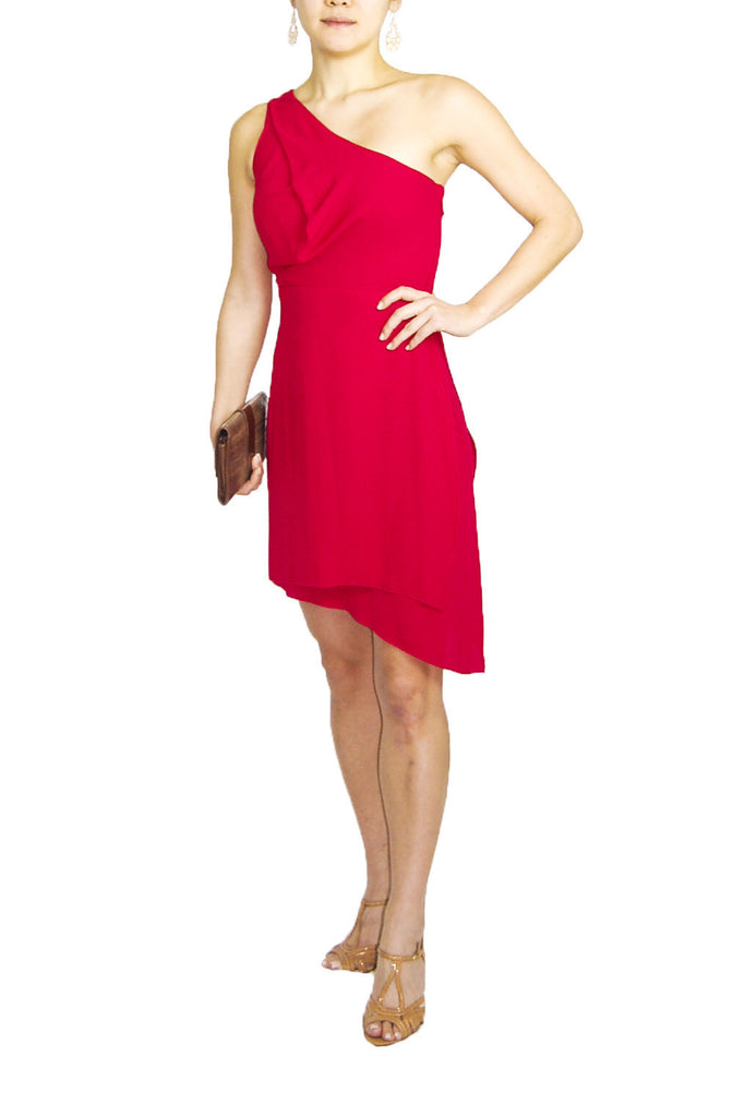 BCBG One Shoulder Red Dress